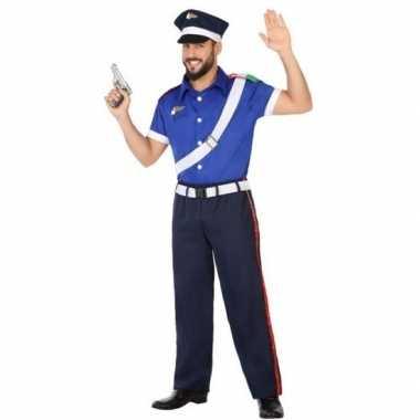 Italiaanse politie verkleed pak/carnavalskleding voor volwassenen