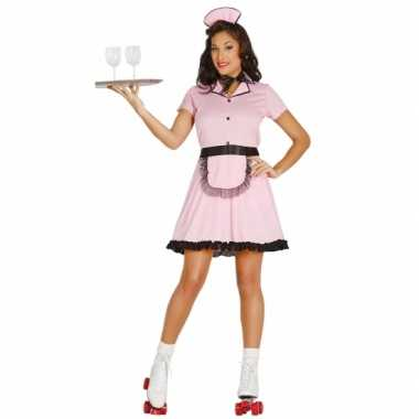 Jaren 50 diner girl carnavalskleding