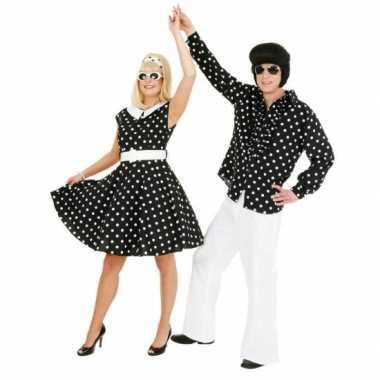 a6948228eed3ab Jaren 50 rock n roll jurk zwart wit