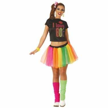 Jaren 80/80s verkleed carnavalskleding/jurk voor dames
