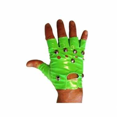 Knalgroene biker handschoenen
