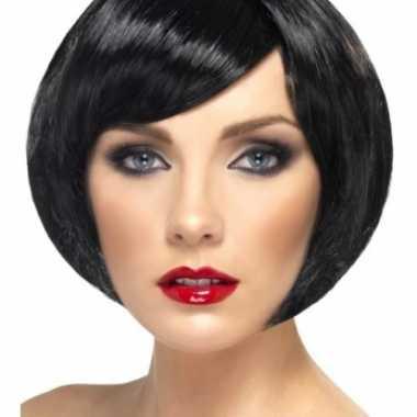 Kort model zwarte damespruik