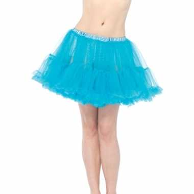 Korte turquoise 50s onderrok voor dames