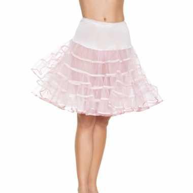 Lange licht roze 50s onderrok voor dames