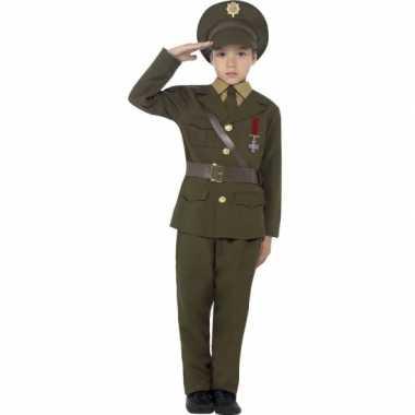 Leger officier verkleed carnavalskleding voor kids