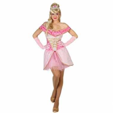 Lichtroze prinsessen jurk voor dames