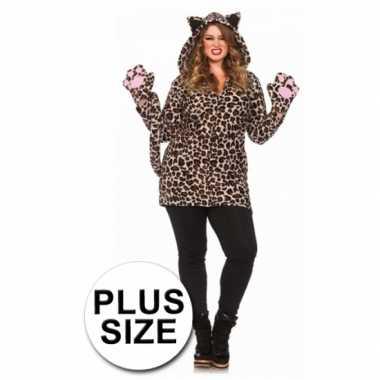 Luipaard jurk met staart