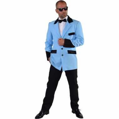 Luxe blauwe jas voor heren