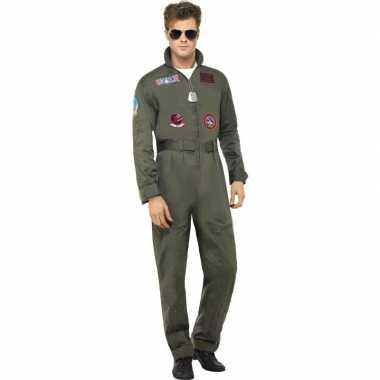 Luxe straaljager top gun piloten carnavalskleding voor heren