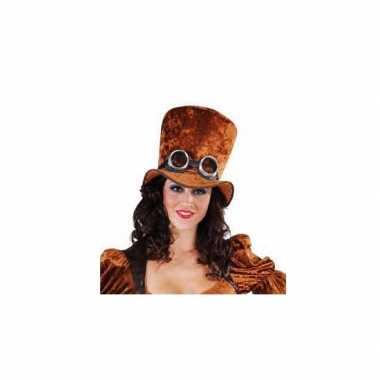 Mega hoge hoed bruin