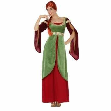 Middeleeuwse jonkvrouw/prinses verkleed carnavalskleding voor dames