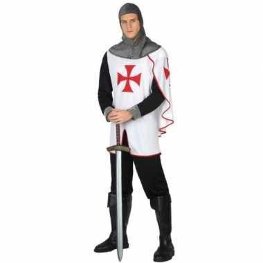 Middeleeuwse kruistocht ridder verkleed carnavalskleding voor heren