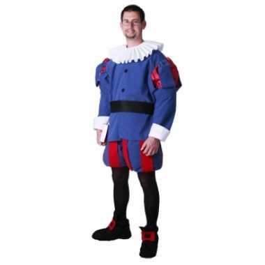 Middeleeuwse prins carnavalskleding voor heren