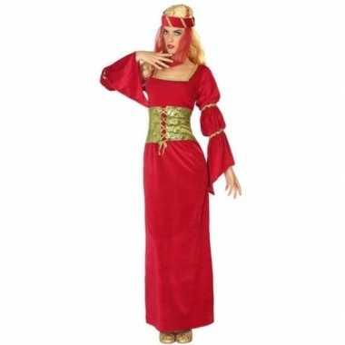 Middeleeuwse prinses/jonkvrouw verkleed carnavalskleding voor dames