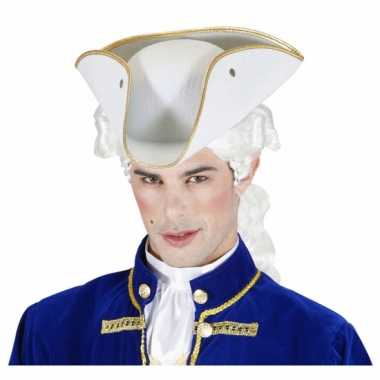 Musketier hoed wit vilt