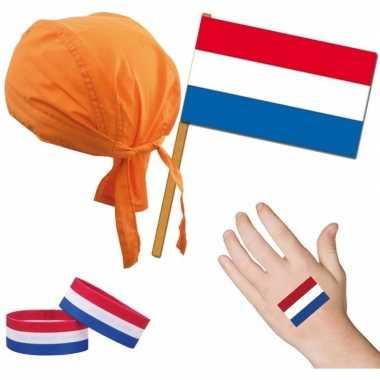Nederland holland thema verkleed set voor volwassenen