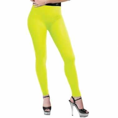 Neon gele legging voor dames 10131986