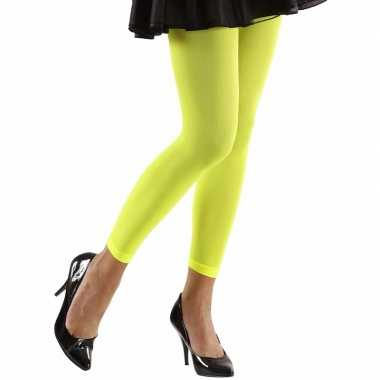 Neon groene legging voor dames