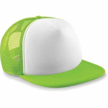 Neon lime groene baseballcap