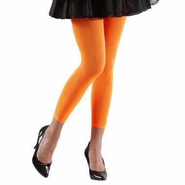 Neon oranje legging voor dames