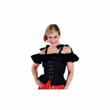 Oktoberfest tiroler blouse carmen zwart