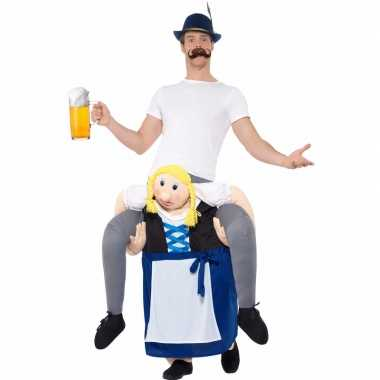 Oktoberfest verkleedcarnavalskleding man op bayerische vrouw