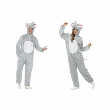 Olifant onesie carnavalskleding voor volwassenen