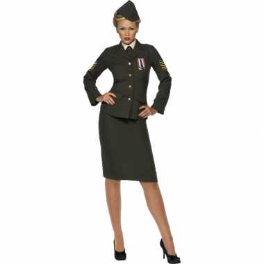 Oorlog officier carnavalskleding voor dames
