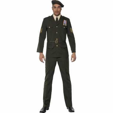 Oorlog officier carnavalskleding