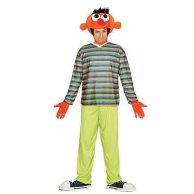 Oranje pop ernie verkleed carnavalskleding voor heren