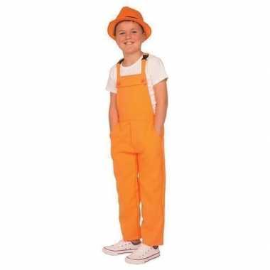 Oranje tuinbroek/carnavalskledingl voor kinderen