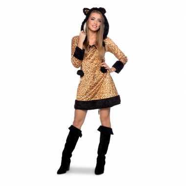 Panter dierencarnavalskleding jurkje voor dames