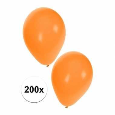 Party ballonnen oranje, 200 stuks