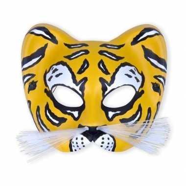 Party oogmasker gele tijger