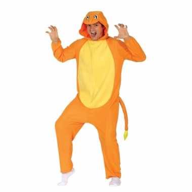 Party oranje cartoon verkleedcarnavalskleding voor volwassenen