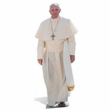 Paus franciscus versiering bord