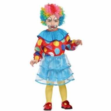 Peuter meisjes carnavalskleding clown