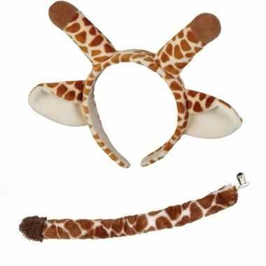 Pluche giraffe verkleed set voor kinderen