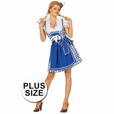 Plus size oktoberfest jurk blauw
