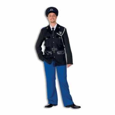 Politie carnavalskleding polyester voor heren