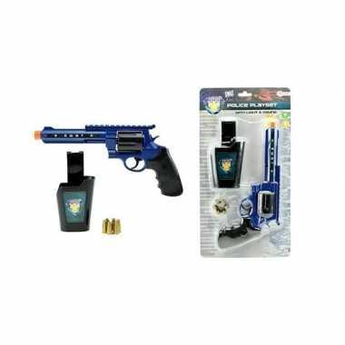 Politie speelgoed pistool set met licht en geluid