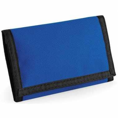 Portemonnee/portefeuille blauw 13 cm