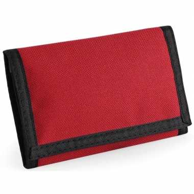 Portemonnee/portefeuille rood 13 cm