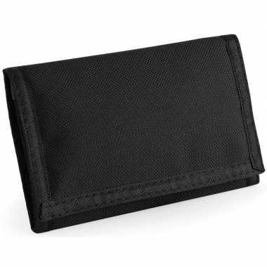 Portemonnee/portefeuille zwart 13 cm