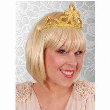 Prinses tiara goud voor dames