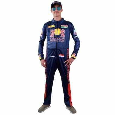 Race coureur verkleed carnavalskledingl voor heren