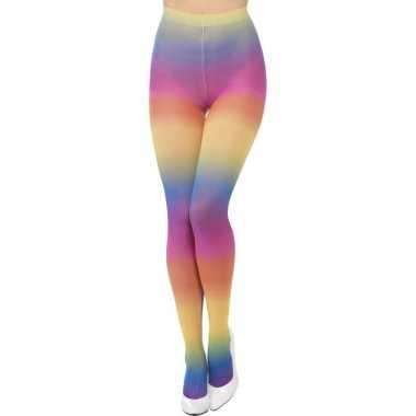 Regenboog verkleed panty