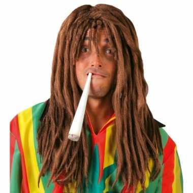 Reggae rasta verkleedpruik voor mannen