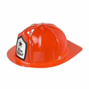 Rode brandweer helmen
