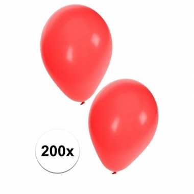 Rode feest ballonnen 200 stuks